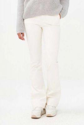 off-white flared broek van een fijne katoenmix leila pant twill