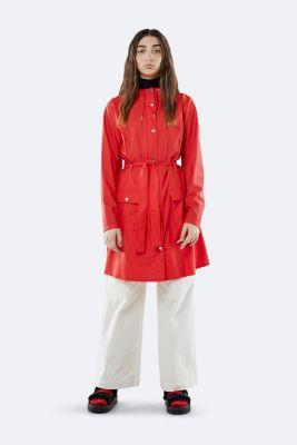 rode regenjas met ceintuur curve jacket 1206 red