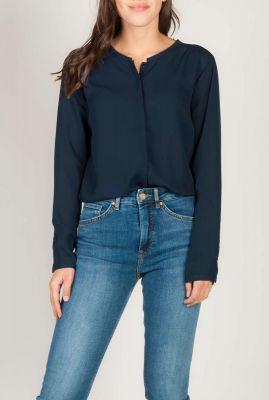 fijne blouse met blinde knoopsluiting cyler noos