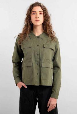 leger groene blouse met zakken lima leaf green 17853