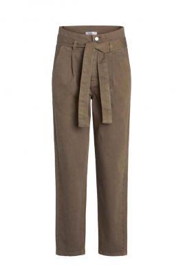 taupe kleurige high waist broek met ceintuur denzel dakota pant 71512