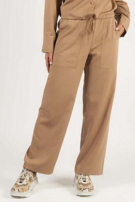 zand kleurige broek met rechte pijpen devon pants