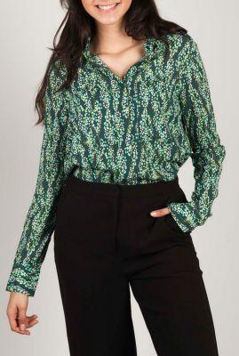 groene blouse met all-over print dreiser snake shirt