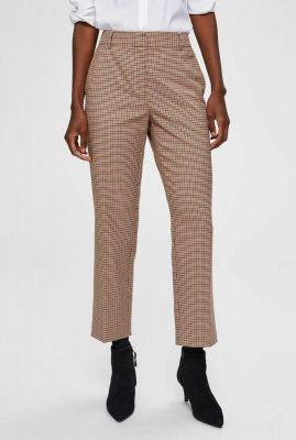 pantalon met cropped pijpen en ruiten dessin emilo pant 16071547