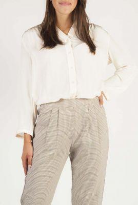 off-white blouse met ingeweven strepen dessin emma shirt