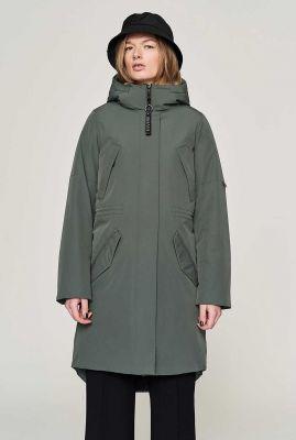 halflange gevoerde parka jas met zakken en capuchon  evin
