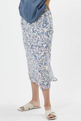 midi rok met fijne bloemen print evorina 7457