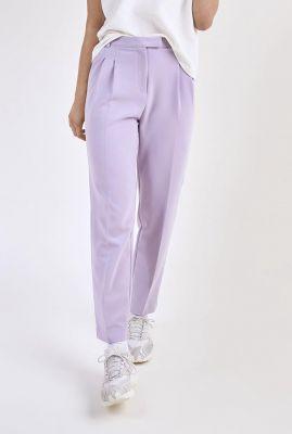 lila pantalon met plooi details galane pants