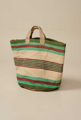 jute shopper met gestreept dessin gallon11 s0814 bag