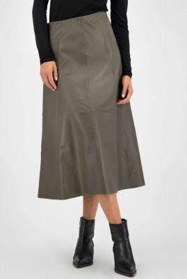 lange leren rok merrith skirt