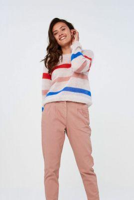 zachte trui van een luxe wolmix met streep dessin gwen stripe pullover