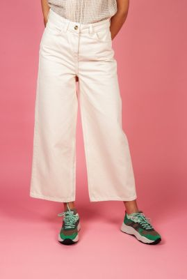 off-white jeans met wijde pijp hannah wide leg jeans