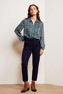 donker blauwe broek met toelopende pijpen Hugo Trouser