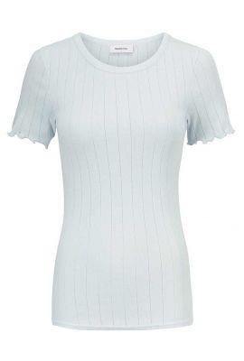 t-shirt met opengewerkt dessin en ruches issy t-shirt