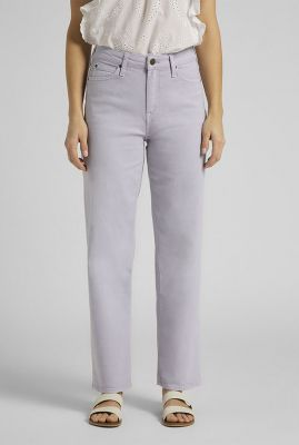 lila straight jeans met high waist wide leg lilac l30sqhct