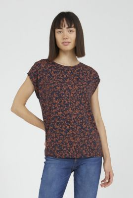donker blauw t-shirt met roest print jennaa 30002579
