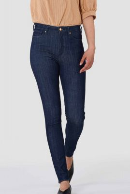 donker blauwe high waisted skinny jeans christina high k200101305