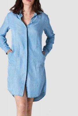 denim blouse jurk van tencel priscilla k200107035