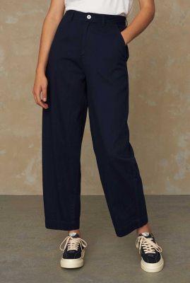 donkerblauwe balloon jeans met high waist K210100016 leila