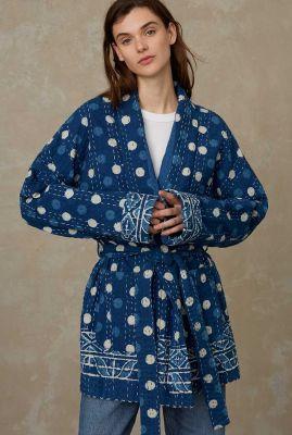 half lange denim kimono shotoku K210702006