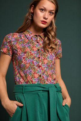 blouse met all-over bloemen print blouse bahama 04939