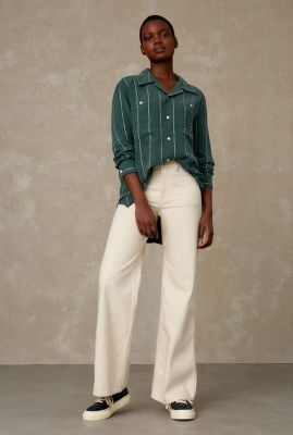 ecru kleurige flared jeans met high waist jane sailor K210101503