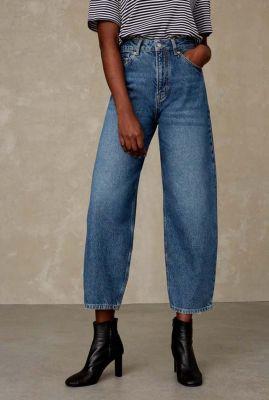 denim balloon leg jeans met high waist leila K210701801