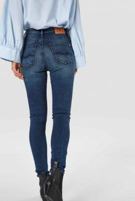 mid blauwe high rise skinny jeans christina high k190701304