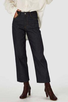donker blauwe relaxed fit jeans met high waist alice k200101615