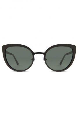 mat zwarte vlinder zonnebril logan black matte kom-s3900