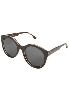 zwarte ronde zonnebril ellis black tortoise kom-s5402