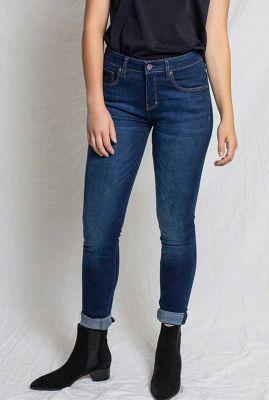 duurzame blauwe skinny jeans skinny dark blue carey 25-35