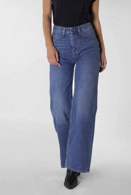 duurzame high waist flared jeans medium blue harper 20-40