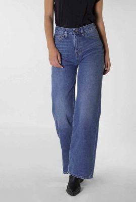 duurzame high waist flared jeans medium blue harper 20-40