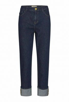 donkere straight fit jeans met hoge taille lana jeans 140520