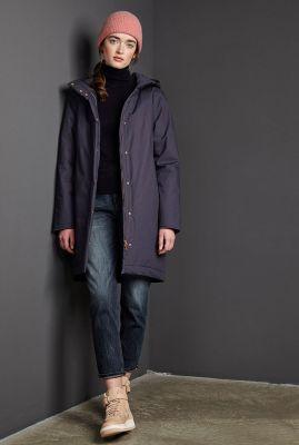 gevoerde a-lijn parka jas met capuchon  ariza coat