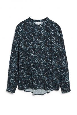 donker groene blouse met all-over print laniaa heather 30002137