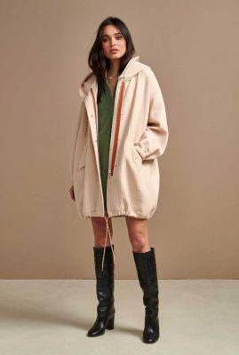 crème kleurige oversized jas van wolmix laos02 p1302