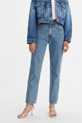 lichte straight fit jeans met high waist the column 75645-0002