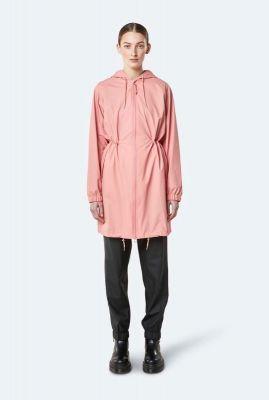 roze regenjas met capuchon long W jacket 1278