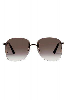 bruine zonnebril met gouden pootjes skyline2097 lsp1902097
