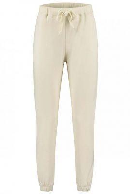 crème kleurige joggingbroek met tunnelkoord lux comfy.1.7033