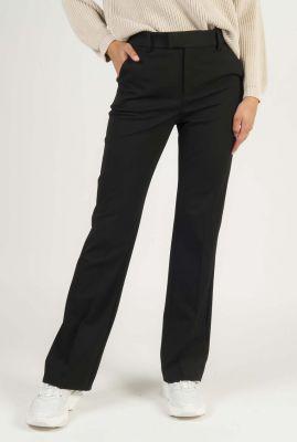 klassieke donkere pantalon met wijde broekspijpen maii pant