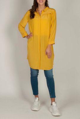 viscose blouse jurk met lange mouwen marlon shirt
