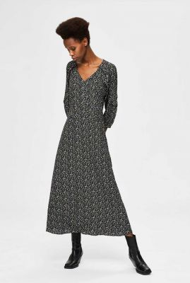 maxi jurk met all-over print riyanka-oriana dress 16076591