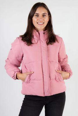 korte roze gewatteerde jas mille puffer
