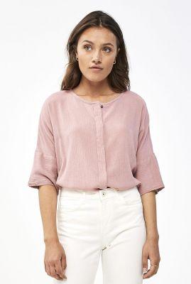 soepel vallende blouse met 3/4 mouwen minde blouse