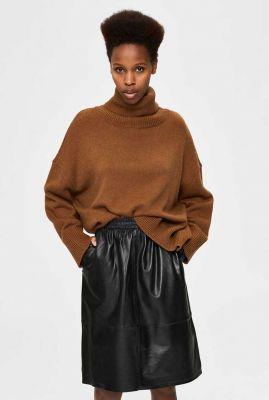 bruine oversized coltrui van wolmix mino boxy knit 16076307