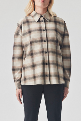 creme kleurige blouse met ruiten fred shirt
