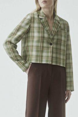 korte groen geruite blazer marty blazer